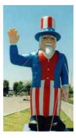 Uncle Sam Balloon - patriotic advertising inflatables
