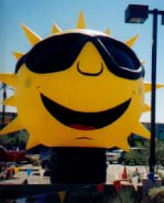 Sun advertising inflatables - custom advertising inflatables made in the USA.
